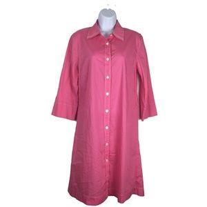 Orla Kiely T-Shirt Shift Dress 4 Pink Cotton